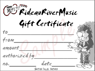 gift certifcate sample